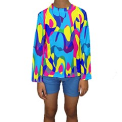 Colorful Chaos  Kid s Long Sleeve Swimwear by LalyLauraFLM