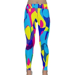 Colorful Chaos Yoga Leggings by LalyLauraFLM
