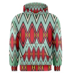 Rhombus And Chevrons Pattern Men s Zipper Hoodie