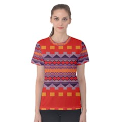 Rhombus Rectangles And Triangles Women s Cotton Tee
