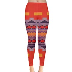 Rhombus Rectangles And Triangles Leggings