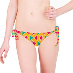 Colorful Stars Pattern Bikini Bottom by LalyLauraFLM