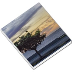 Sunset Scene At Boardwalk In Montevideo Uruguay Small Memo Pads by dflcprints