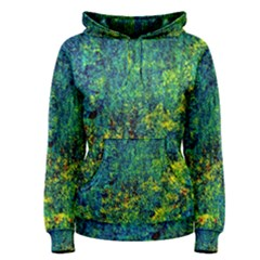 Flowers Abstract Yellow Green Women s Pullover Hoodies by Costasonlineshop