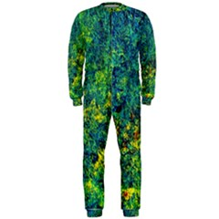 Flowers Abstract Yellow Green Onepiece Jumpsuit (men)  by Costasonlineshop