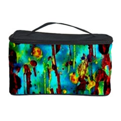 Turquoise Blue Green  Painting Pattern Cosmetic Storage Cases
