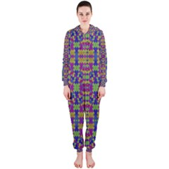 Ethnic Modern Geometric Patterned Hooded Jumpsuit (ladies)  by dflcprintsclothing