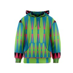 Connected Rhombus Kids Zipper Hoodie by LalyLauraFLM