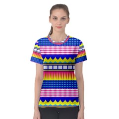 Rectangles Waves And Circles Women s Sport Mesh Tee