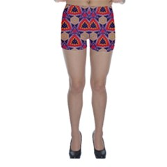 Triangles Honeycombs And Other Shapes Pattern Skinny Shorts by LalyLauraFLM