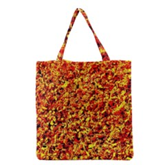Orange Yellow  Saw Chips Grocery Tote Bags