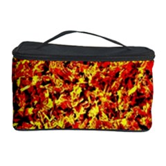 Orange Yellow  Saw Chips Cosmetic Storage Cases by Costasonlineshop