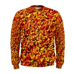 Orange Yellow  Saw Chips Men s Sweatshirts