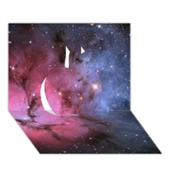 Trifid Nebula Apple 3d Greeting Card (7x5)
