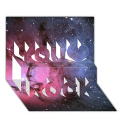 Trifid Nebula You Rock 3d Greeting Card (7x5)