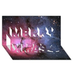 Trifid Nebula Merry Xmas 3d Greeting Card (8x4)