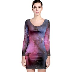 Trifid Nebula Long Sleeve Bodycon Dresses