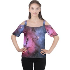 Trifid Nebula Women s Cutout Shoulder Tee
