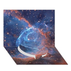 Thor s Helmet Circle Bottom 3d Greeting Card (7x5)
