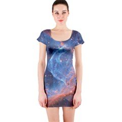 Thor s Helmet Short Sleeve Bodycon Dresses
