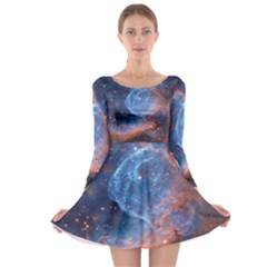 Thor s Helmet Long Sleeve Skater Dress