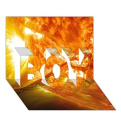 Solar Flare 2 Boy 3d Greeting Card (7x5) by trendistuff