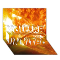 Solar Flare 2 You Are Invited 3d Greeting Card (7x5)  by trendistuff