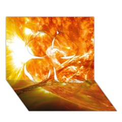 Solar Flare 2 Clover 3d Greeting Card (7x5)  by trendistuff