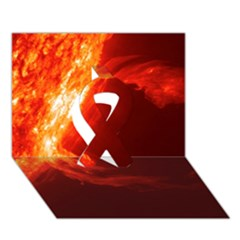 Solar Flare 1 Ribbon 3d Greeting Card (7x5)