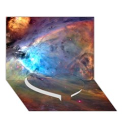 Orion Nebula Heart Bottom 3d Greeting Card (7x5)  by trendistuff