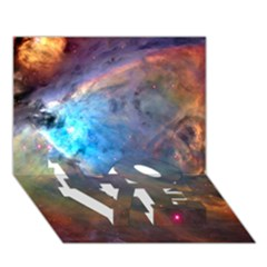 Orion Nebula Love Bottom 3d Greeting Card (7x5)  by trendistuff