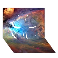 Orion Nebula Clover 3d Greeting Card (7x5)  by trendistuff