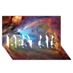 Orion Nebula Best Sis 3d Greeting Card (8x4)  by trendistuff