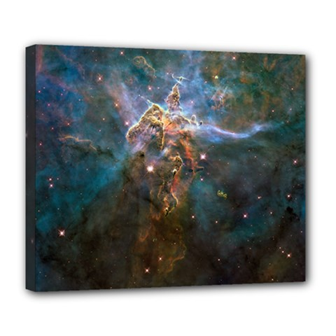 Mystic Mountain Deluxe Canvas 24  X 20   by trendistuff