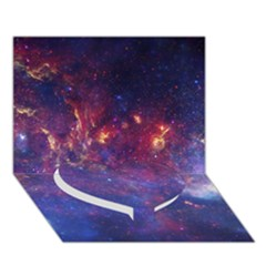 Milky Way Center Heart Bottom 3d Greeting Card (7x5)  by trendistuff