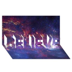 Milky Way Center Believe 3d Greeting Card (8x4)  by trendistuff