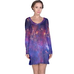 Milky Way Center Long Sleeve Nightdresses by trendistuff