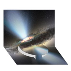 Hidden Black Hole Circle Bottom 3d Greeting Card (7x5)