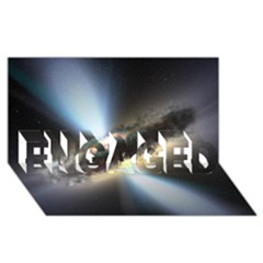 Hidden Black Hole Engaged 3d Greeting Card (8x4)  by trendistuff