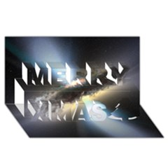 Hidden Black Hole Merry Xmas 3d Greeting Card (8x4)  by trendistuff