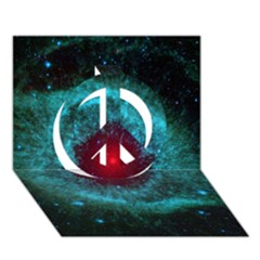 Helix Nebula Peace Sign 3d Greeting Card (7x5)  by trendistuff