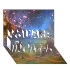 Eagle Nebula You Are Invited 3d Greeting Card (7x5)  by trendistuff