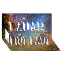 Eagle Nebula Laugh Live Love 3d Greeting Card (8x4)  by trendistuff