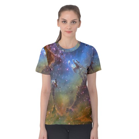 Eagle Nebula Women s Cotton Tee by trendistuff