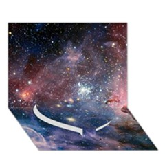 Carina Nebula Heart Bottom 3d Greeting Card (7x5)  by trendistuff
