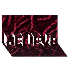 Luxury Claret Design Believe 3d Greeting Card (8x4)  by Costasonlineshop