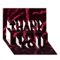 Luxury Claret Design Thank You 3d Greeting Card (7x5)