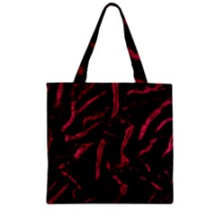 Luxury Claret Design Zipper Grocery Tote Bags by Costasonlineshop