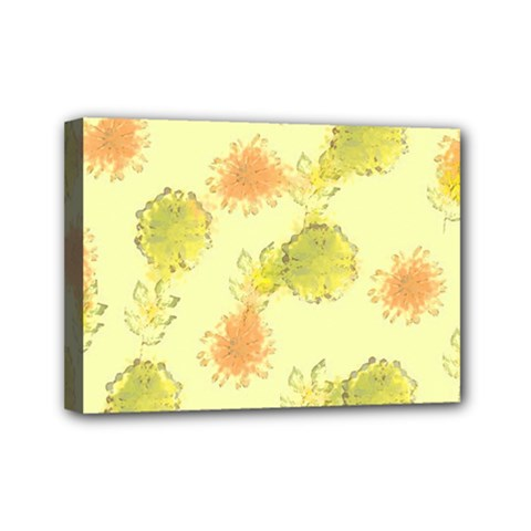 Shabby Floral 1 Mini Canvas 7  X 5  by MoreColorsinLife