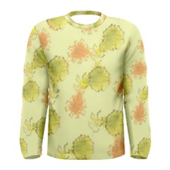 Shabby Floral 1 Men s Long Sleeve T Shirts